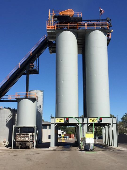 Gallagher Asphalt Plant painted by CJC Painting Inc.
